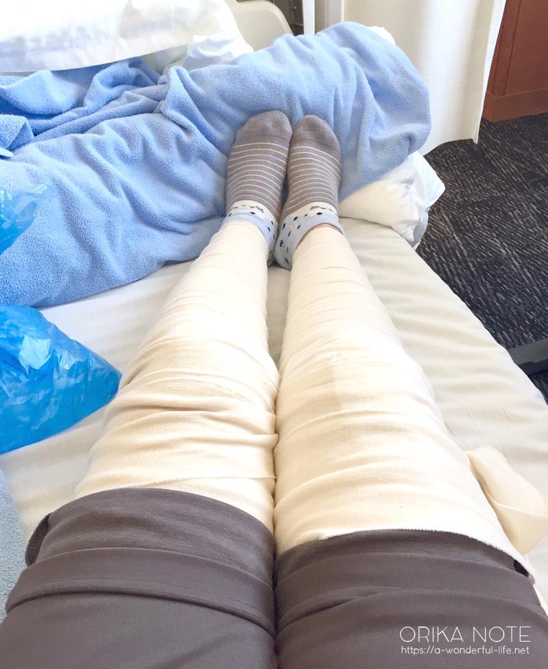 術後8日目 反復性膝蓋骨脱臼の内側膝蓋大腿靭帯(MPFL)再建術